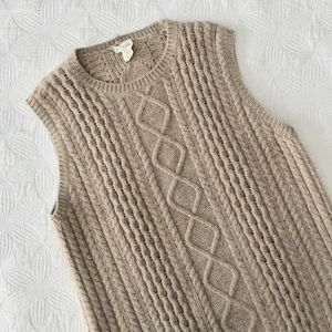 Vintage J. Crew Italian Cable Sweater Dress • L